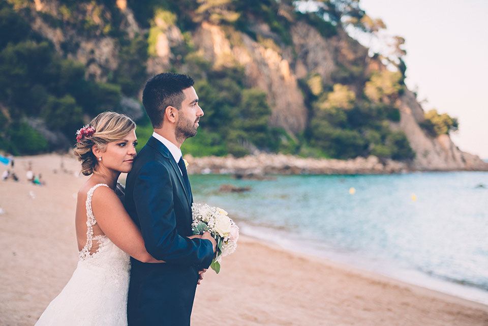Wedding photos beach Costa Brava