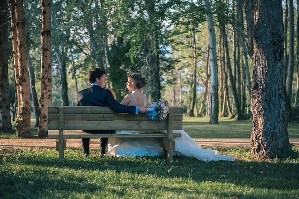 Fotos boda en finca modernista con grandes jardines