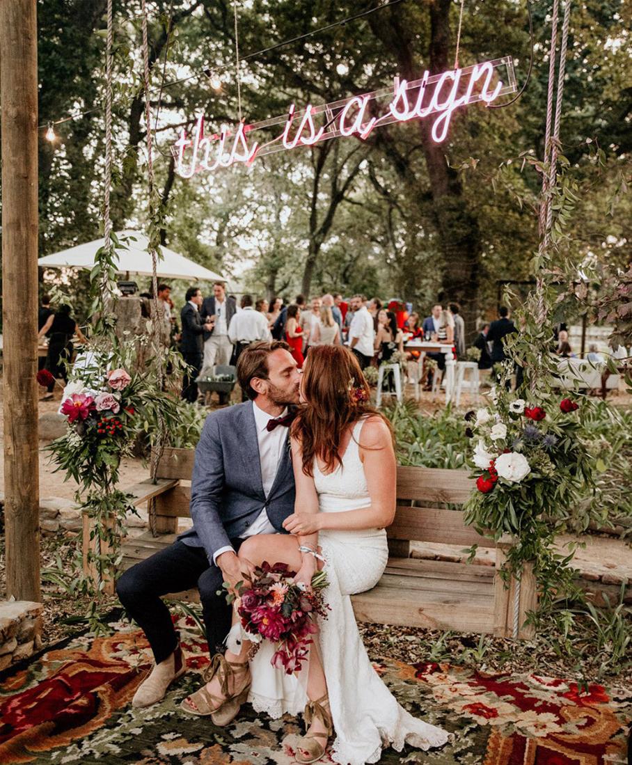 Tendencias boda 2019 neones